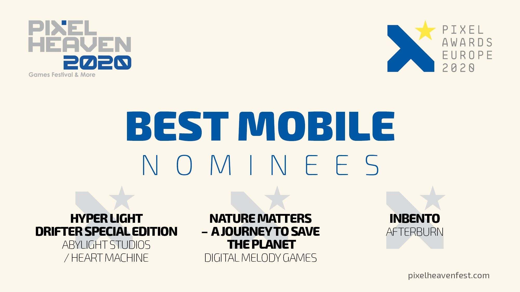 Nature Matters - A Journey To Save The Planet nominated for Best Mobile / Pixel Awards Europe 2020